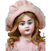 "Pretty in Pink 16"" Simon & Halbig 939 Antique Doll for the French Trade!"