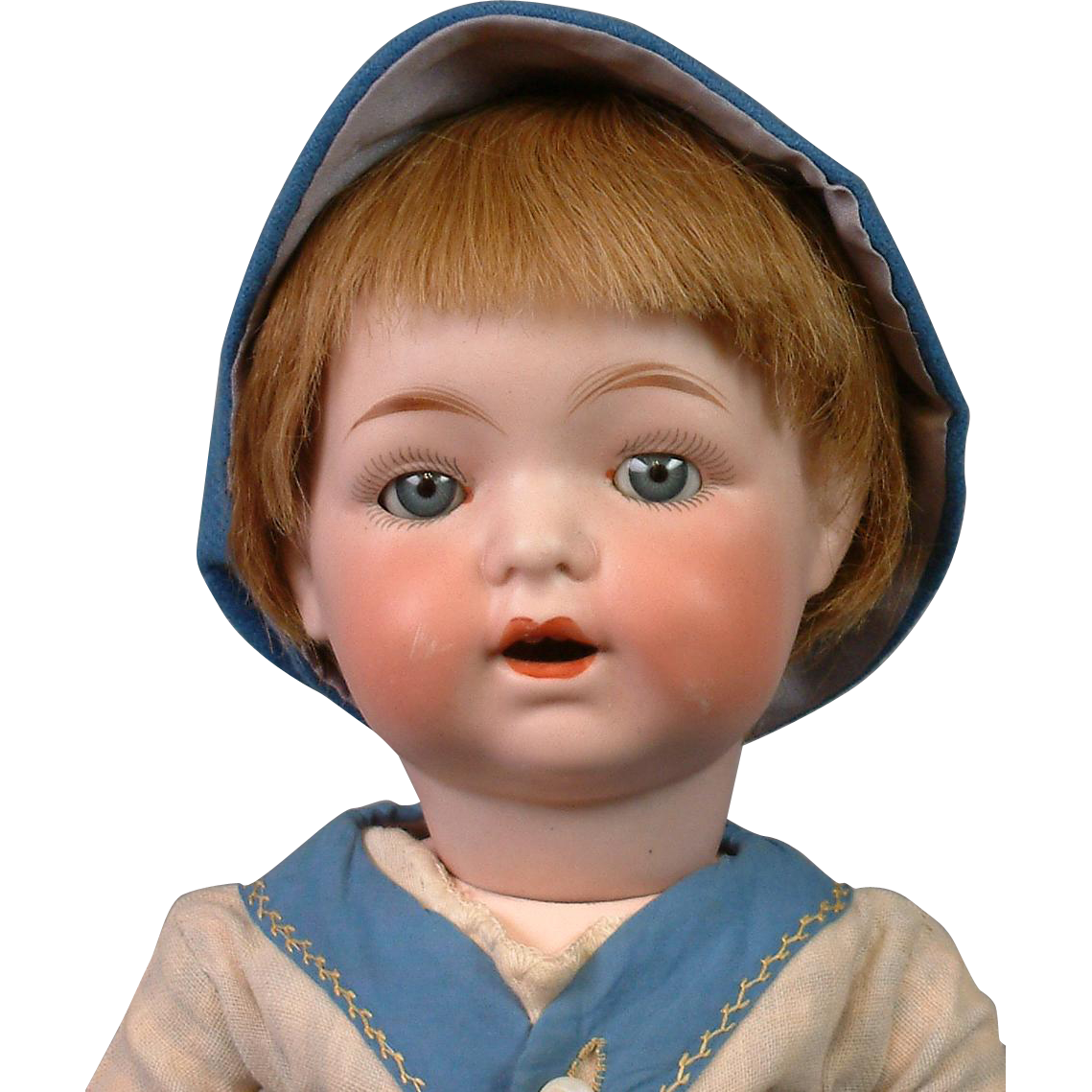 "The Cutest 16.5"" Antique Fulper American Character Boy on Toddler Body"