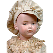"""Museum Worthy 16.5"""" Heubach Character Boy With The Most Dramatic Modeling Imaginable~Toddler Body~Silk Costume!"""