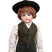 "Exceptional 31.5"" Armand Marseille Antique Boy in Victorian Style Costume"