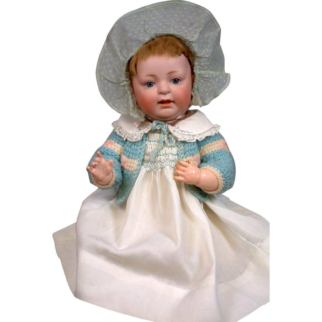 "Kestner 211 ""Sammy"" Character Antique Baby Doll 15"" with Open-Closed Mouth"