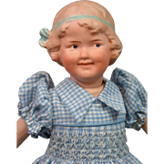 "RARE Gebruder Heubach 7768 ""Coquette"" Girl Antique Doll 10"""