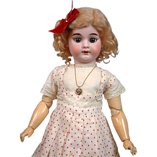 Armand Marseille 3600 DEP Rare Model Antique Child Girl with Cryer Body for French Trade