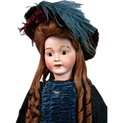 "The Elegant 25"" Big Antique Lanternier Limoges Girl Doll in Alluring Presentation Costume"