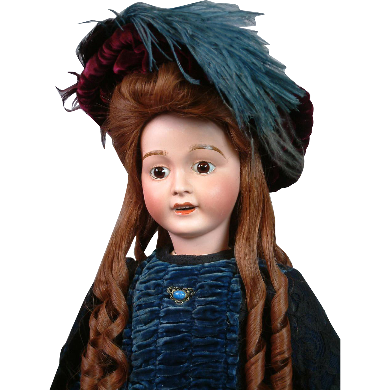 "The Elegant 25"" Big Antique Lanternier Limoges Girl Doll in Alluring Presentation Costume"