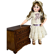 "Lovely Deluxe Antique Oak & Pine Doll Dresser c. 1890-1910 14.5"" x 11.5"""