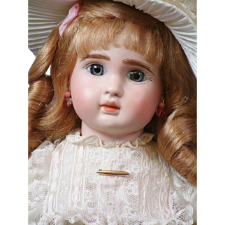 "20"" Super Sweet Blue-Eyed Jules N. Steiner Fre A Bebe with Closed Mouth"