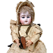 """Immaculate All Original 20"""" Rabery & Delphieu Bebe With Super Rare Signed Rabery Shoes"""