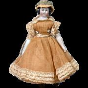 "The Delightful 5"" Dollhouse Antique China Girl in Full Original Costume"