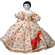 "*So Sweet* 4.75"" Antique Dollhouse China Girl in Original Costume"