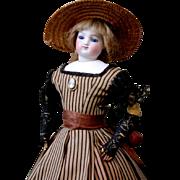 "Gorgeous 13.5"" SIGNED Barrois Enfantine Poupee In Original Costume~Perfect Bisque + Distinct Features!"
