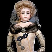 "Ethereal 19"" Portrait Jumeau Fashion Poupee in Original Masquerade Costume~Museum Piece!"