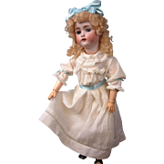 "Hertel & Schwabb 136 BIG 27.5"" Antique Doll in Antique Costume"