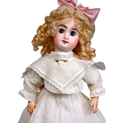 "Delightful 13"" Size 3 'M' Mark Character Bebe Attributed to Jumeau~Bargain Girl~ Perfect Condition!"