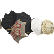 "5 Fetching Parasols For Display with Dolls, Fashion Poupees, And Bebes Sizes 21""-40"""