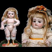 "THE Sweetest Large 8.5"" Kestner Wrestler Antique Doll With Antique Lace Dress"