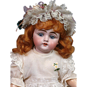 """14.5"""" Kestner 143 Antique Pre-Character Doll with Blue Eyes on Original Marked Body"""