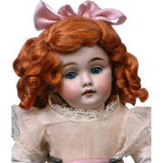 13.5 Kestner 143 Antique Character Doll with Blue Sleep Eyes on Original Marked Body