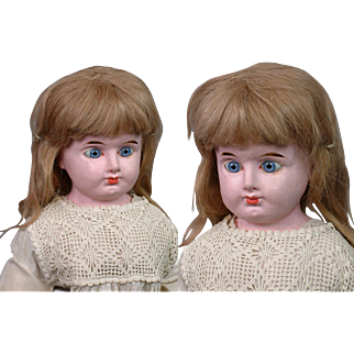 """Webber Musical Doll Papier Mache 21"""" Antique Doll by Massachusetts Organ Co. c.1883"""