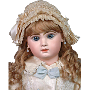 "Wonderful 26"" Size 12 French Jumeau Bebe ~Shy Expression~ with Boutique Label ""A La Mignonette""!"