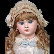 "Wonderful 26"" Size 12 French Jumeau Bebe ~Shy Expression~ with Boutique Label ""A La Mignonette""!"