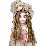 Fabulous Super Long Blond French Human Hair Wig with Original Set and Ribbon