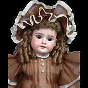 "Armand Marseille 1894 Antique Doll 24"" in Matching Dress & Bonnet"