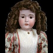"""Massive Kestner 171 31.5"""" Antique Doll on Marked Excelsior Kestner Body"""