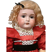Kestner 174 Antique Bisque Doll in Vibrant Red on Marked Body 23""