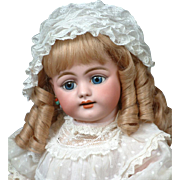 """Stupendous 719 Simon & Halbig Character Child Antique Doll 22"""" in Pretty Pink Antique Dress"""