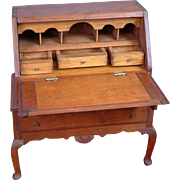 Early Antique Mahogany Doll Writing Desk in Chippendale Style c.1840-1880