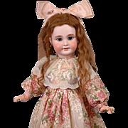 Tete Jumeau Antique French Bebe Doll with Original Wig & Jumeau Label Body c.1895