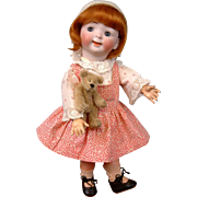 "Delightful 12.5"" Hertel & Schwab 165  ""Jubilee Googly"" Toddler c1914—So Cute!"
