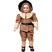Antique Armand Marseille 390 Boy in Pilgrim-Style Costume 11""