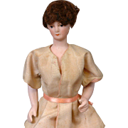 "Elegant All-Original Bisque Torso Lady Doll 7.5"" with Bisque Booted Feet c. Early 20th Century"