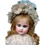 "20"" Rare all original French Jumeau Bebe size 8 on Rare Walker Body!"