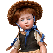 """12.5"""" Gebruder Heubach 6969 Pouty All Original Character Doll c.1912--Just SUPERB"""