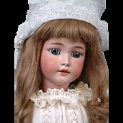 """29"""" Simon & Halbig 1249 SANTA Antique Doll in Crispy Antique Whites--So Beautiful!"""