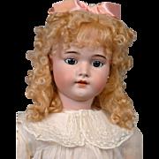 "Simon & Halbig 1079 DEP 29.5"" Antique Bisque Girl Doll in Antique Costume & Earrings"