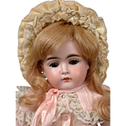 Kestner 152 Antique Bisque Girl on Marked Fully-Jointed Kestner Body 16.5""