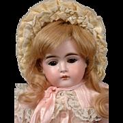 """Kestner 152 Antique Bisque Girl on Marked Fully-Jointed Kestner Body 16.5"""""""