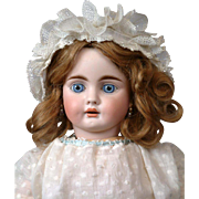 """21"""" Gorgeous Bahr & Proschild 224 German Antique Doll for the French Trade--Those Dimples!"""