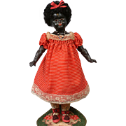 "12"" Incredibly Rare Ebony Sonneberg 111 Belton Closed Mouth Bebe for the French Trade in Original Dress!"