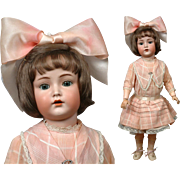 "24"" Kammer & Reinhardt 117n ""MEIN LIEBLING"" Character Child with Flapper Body & Antique Dress--Wow!"