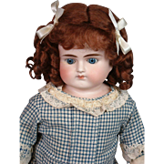 All-Original Alt Beck & Gottschalk Turned-Head Antique Bisque Doll 21""