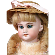 "Lovely French DEP Antique Bisque Child 13.5"" in Adorable Costume"