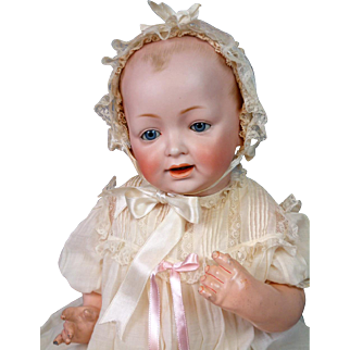 """Near-Mint Kestner """"Baby Jean"""" Antique Character Baby 20"""" in Antique Gown"""