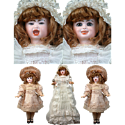 "Simply Magnificent! Super Rare Jumeau Series Fantastique 2-Faced French Character Bebe 18"" tall--Cry/Laugh All Original plus Trousseau"