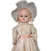 "Fabulous 14"" Swivel Head Motschmann Baby Doll Papier Mache Fully Articulated Papier Mache & Cloth~WOW!"