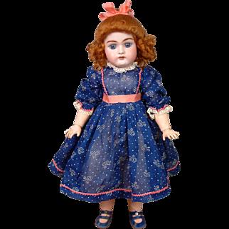 "Ginger Handwerck 79 Antique Bisque Child 14.5"" in Presentation Spring Costume"